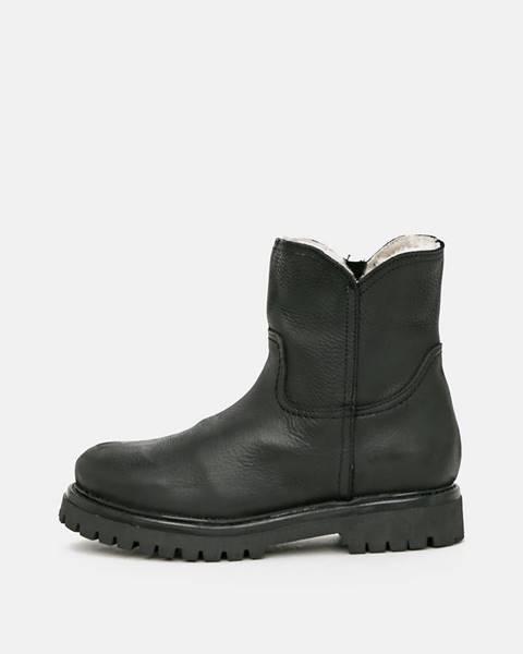 Čierne zimná obuv OJJU