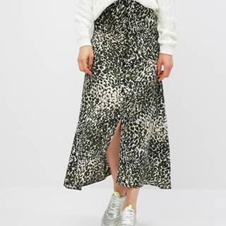 Kaki vzorovaná maxi sukňa Dorothy Perkins
