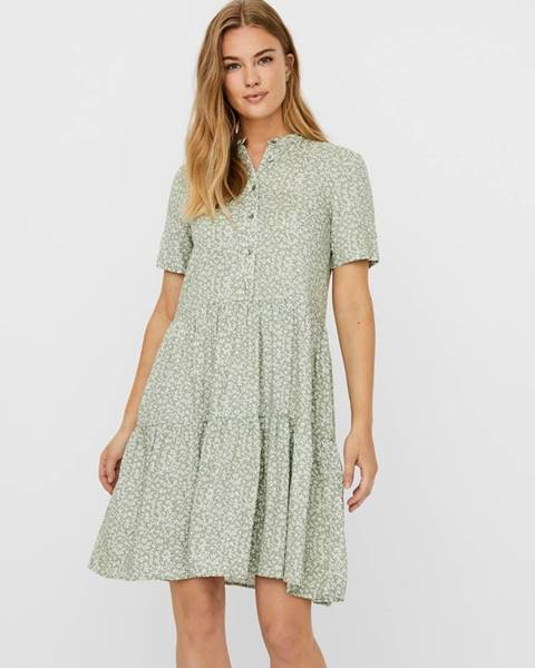 Svetlozelené šaty Vero Moda