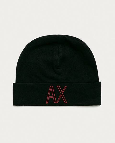 Čierna čiapka Armani Exchange