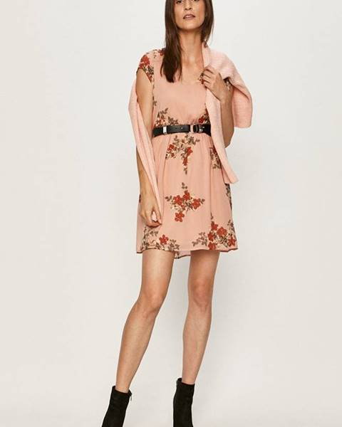 Ružové šaty Vero Moda