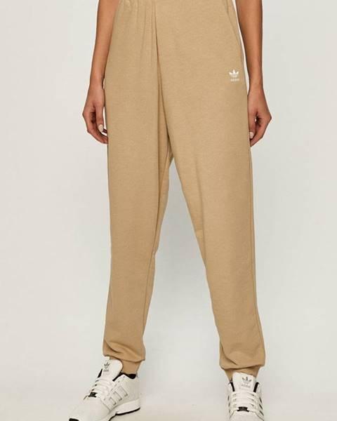 Béžové nohavice adidas Originals