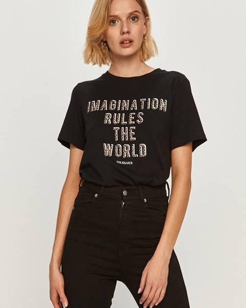 Čierne tričko Trussardi Jeans