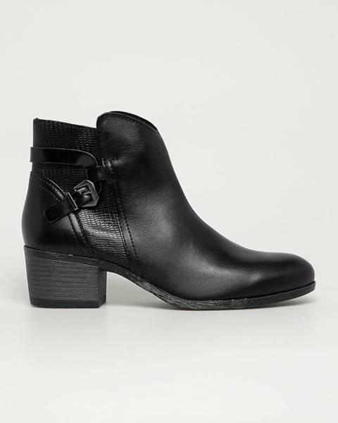 Čierne čižmy Marco Tozzi