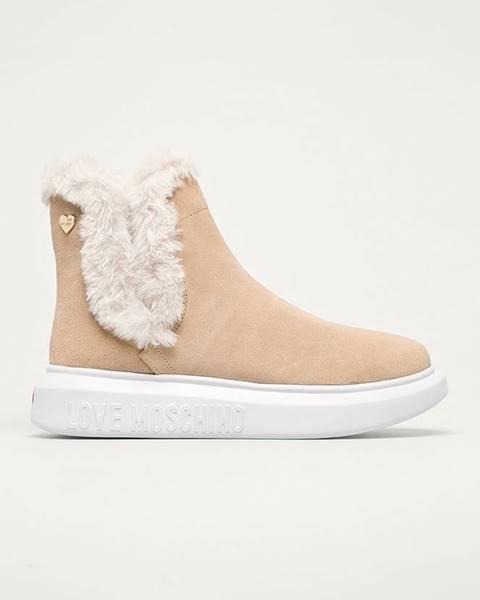 Béžové zimná obuv Love Moschino