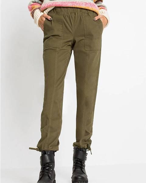 Zelené nohavice bonprix