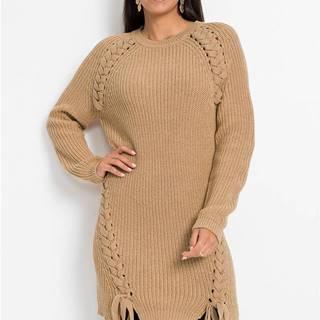 Dlhý pulóver so šnurovačkou