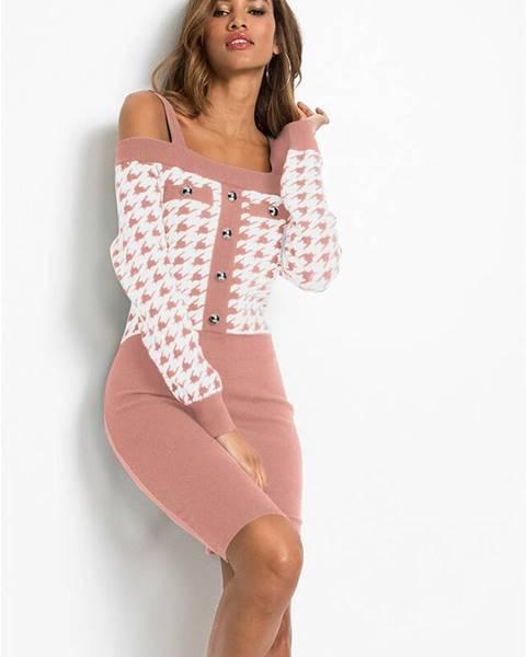 Ružové šaty na ramienkach bonprix