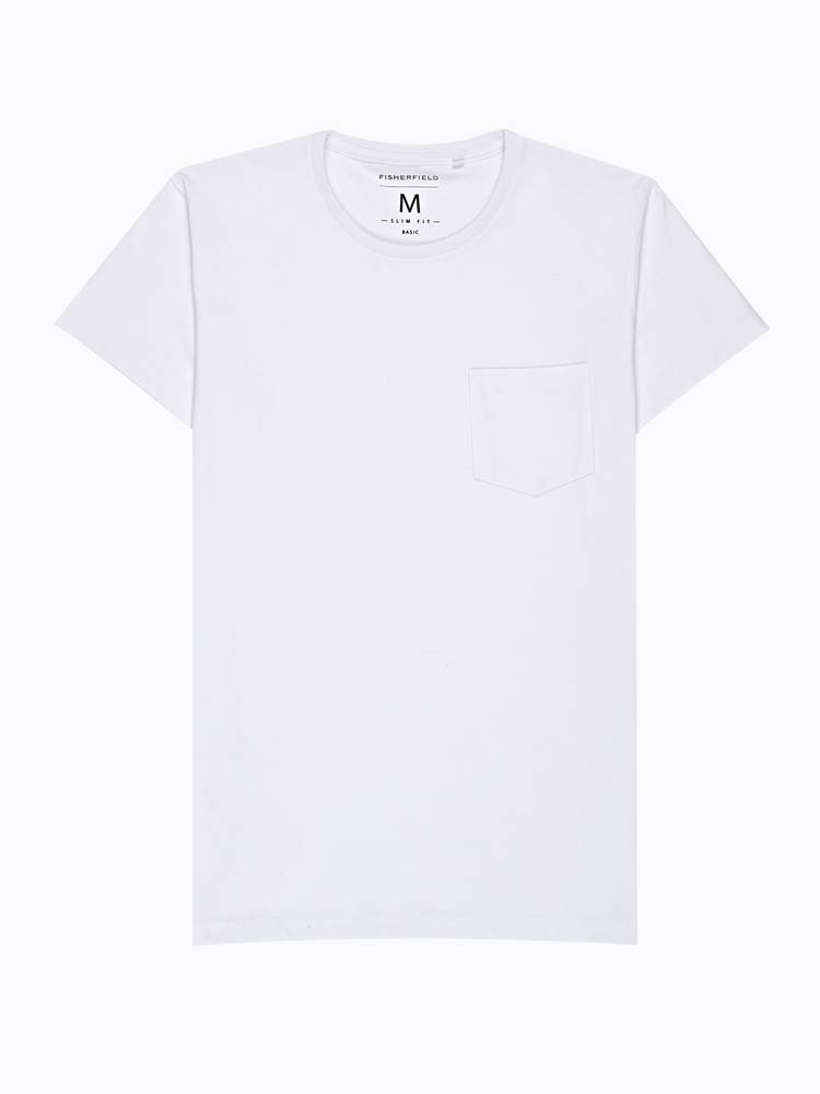 GATE Základné tričko slim fit s náprsným vreckom