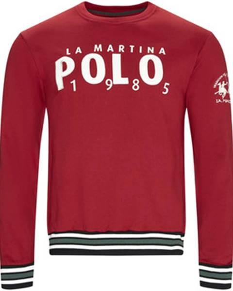 Červená mikina La Martina