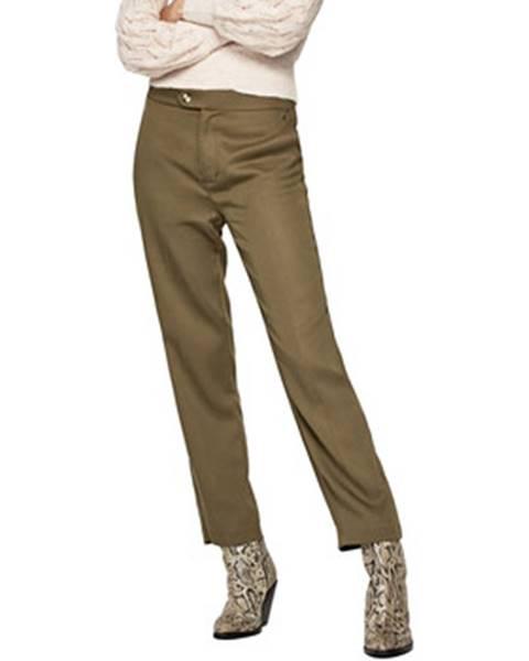 Zelené chino nohavice Pepe jeans