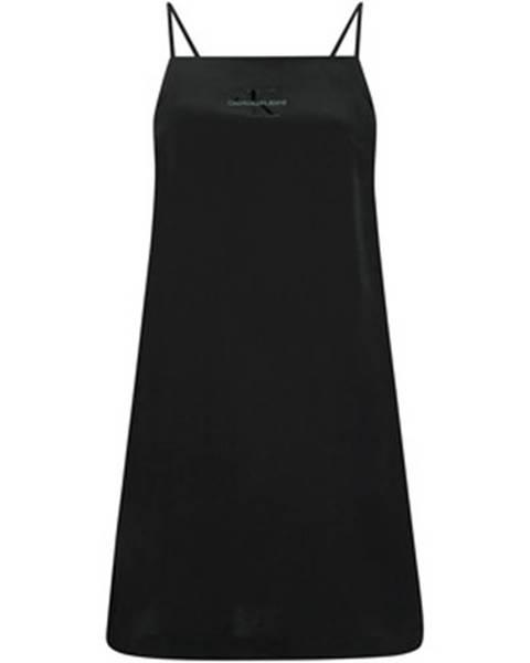 Čierne minišaty Calvin Klein Jeans