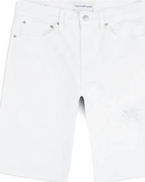 Biele kraťasy Calvin Klein Jeans