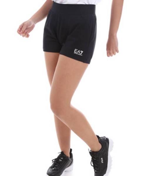 Čierne šortky Emporio Armani EA7