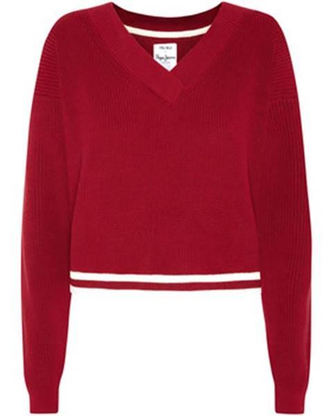Červený sveter Pepe jeans