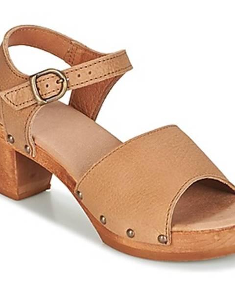 Béžové sandále Sanita
