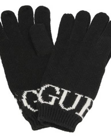 Čierne rukavice Guess