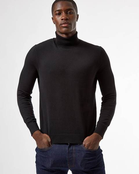 Čierna mikina Burton Menswear London