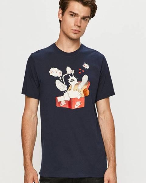 Tmavomodré tričko Nike Sportswear