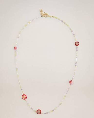 Ružový náhrdelník Mango