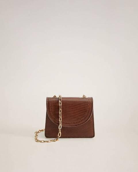 Hnedá kabelka Mango