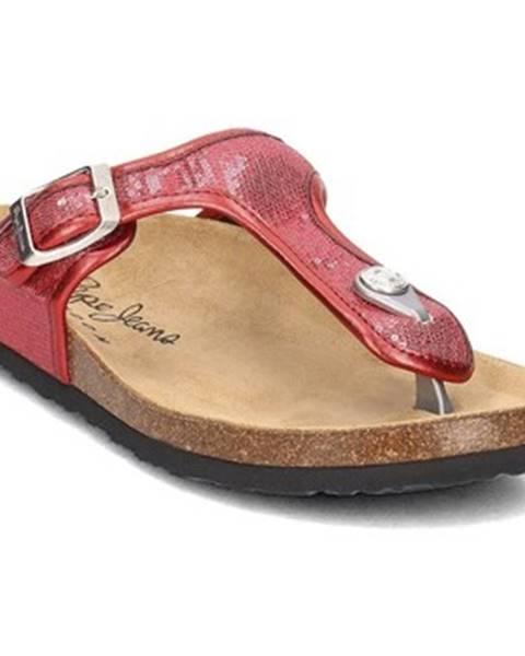 Červené sandále Pepe jeans