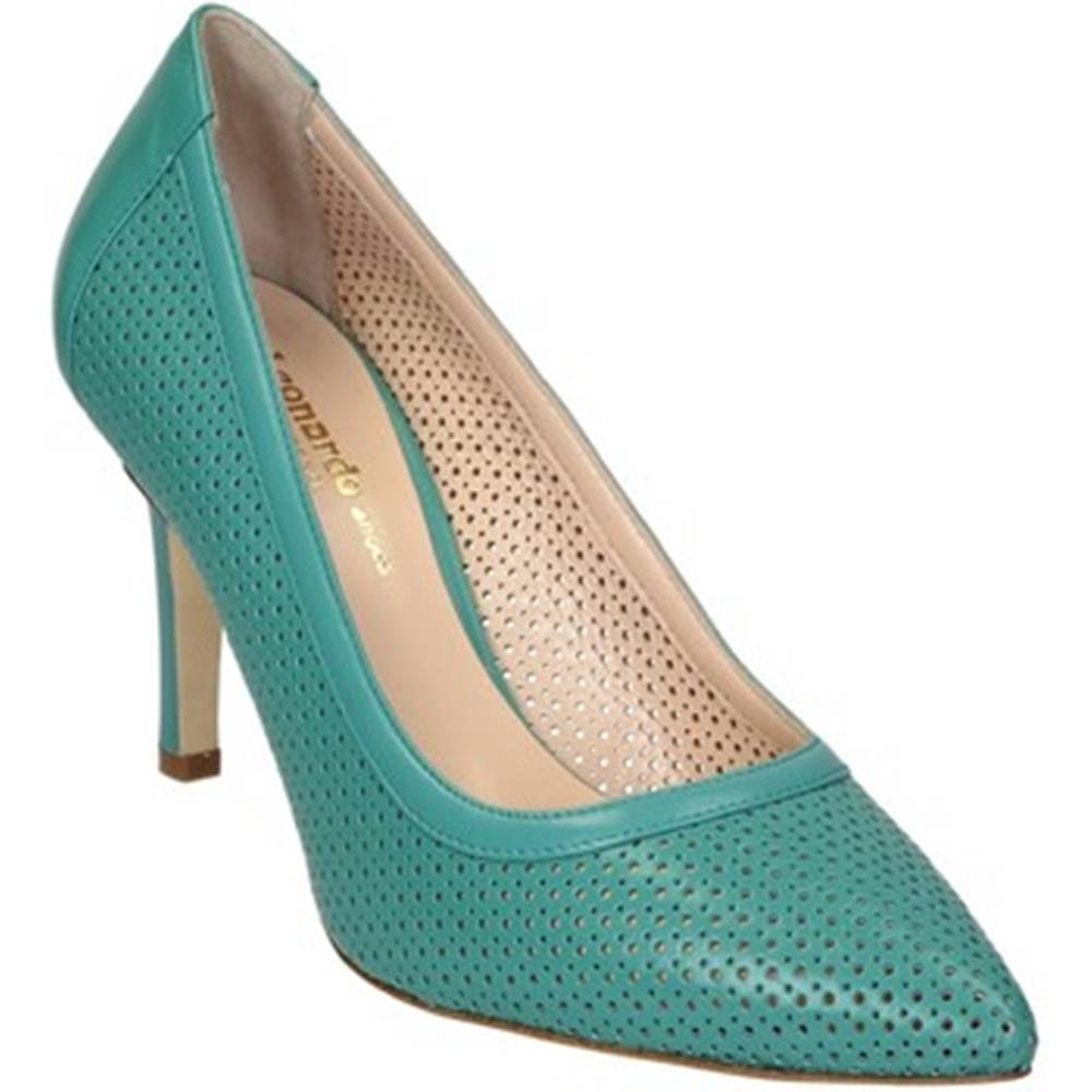 Leonardo Shoes Lodičky Leonardo Shoes  54008 NAPPA ACQUAMARINA