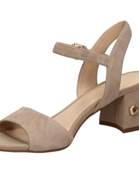 Hnedé sandále Elvio Zanon