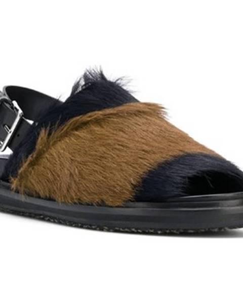 Čierne sandále Marni
