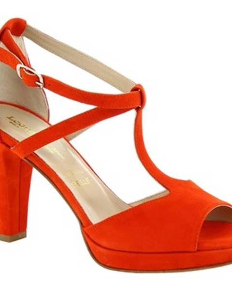 Červené sandále Leonardo Shoes