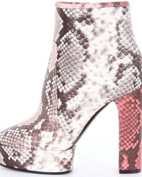 Viacfarebné topánky Casadei