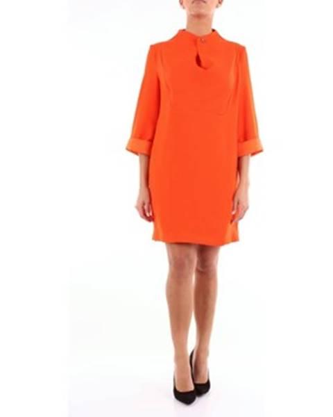 Oranžové minišaty Erika Cavallini
