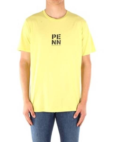 Žlté tričko Penn Rich Woolrich