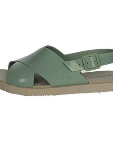 Zelené sandále Zaxy