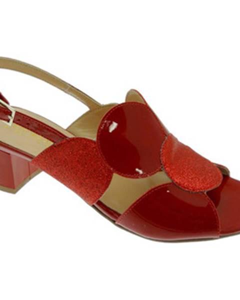 Červené sandále Soffice Sogno