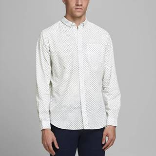 Biela vzorovaná košeľa Jack & Jones Cowindsor