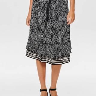 Čierna vzorovaná sukňa Jacqueline de Yong Jackie