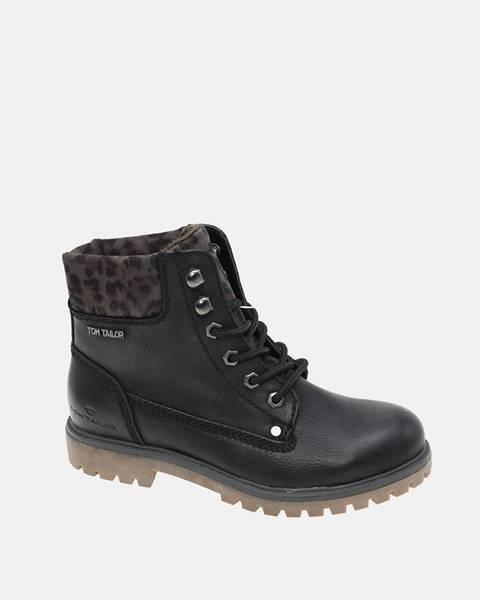 Čierne zimná obuv Tom Tailor
