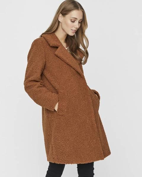 Hnedý kabát Vero Moda
