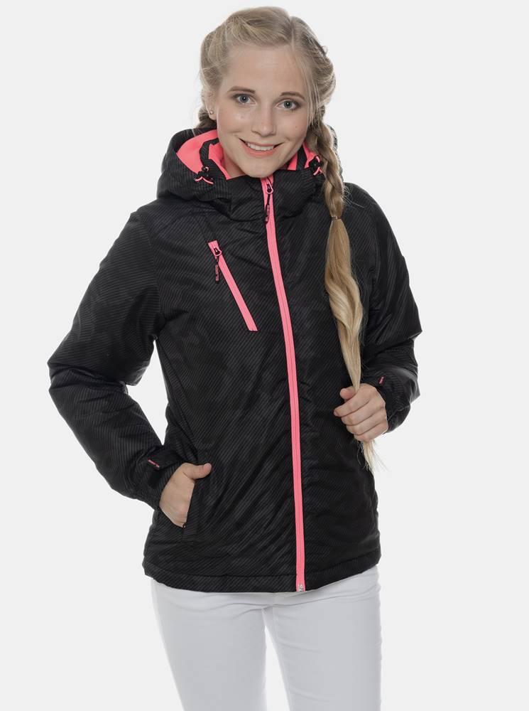 SAM 73 Čierna dámska vzorovaná nepromokavá zimná bunda SAM 73