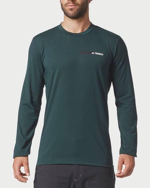 Zelené tričko adidas Performance