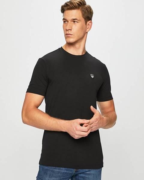 Čierne tričko EA7 Emporio Armani