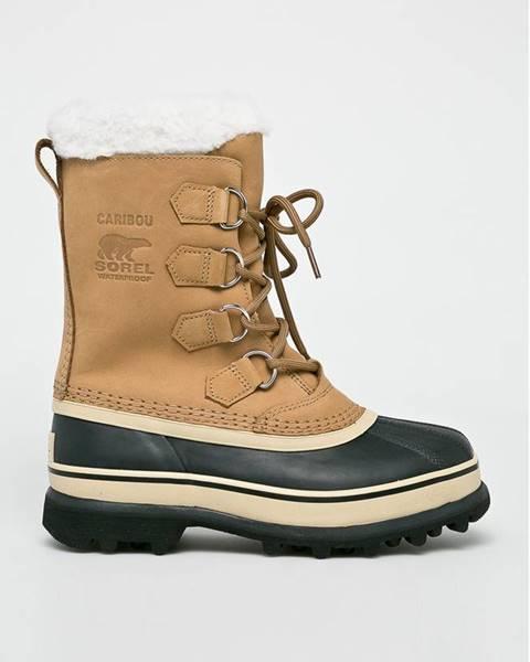 Béžové zimná obuv Sorel