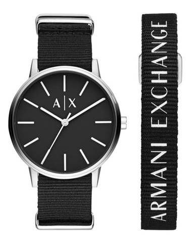 Čierne hodinky Armani Exchange
