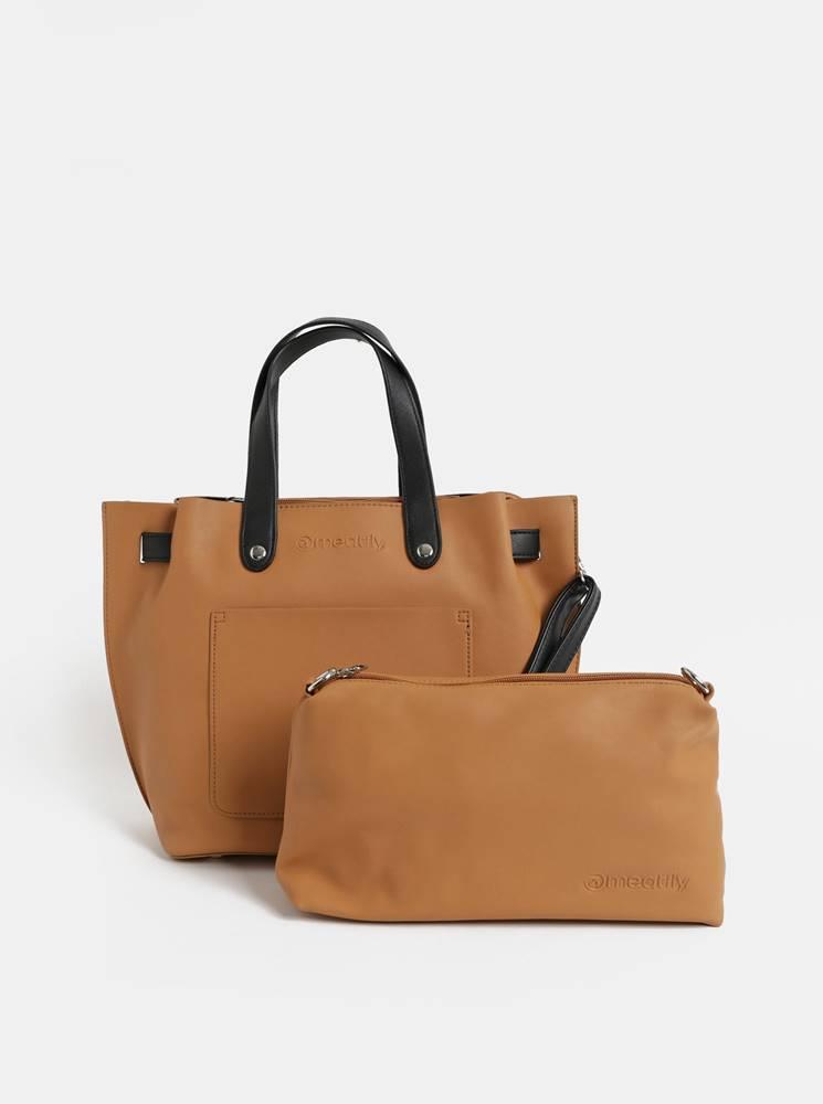 Hnedá kabelka s crossbody k...