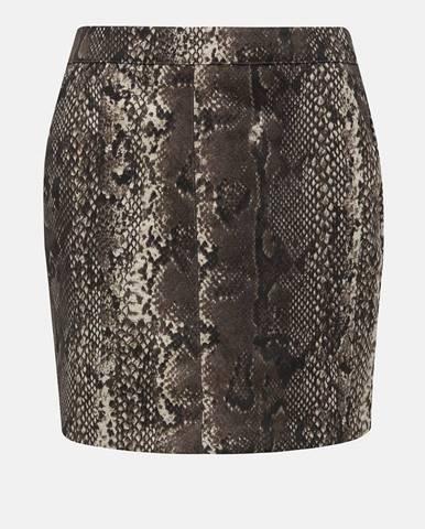 Hnedá sukňa Vero Moda