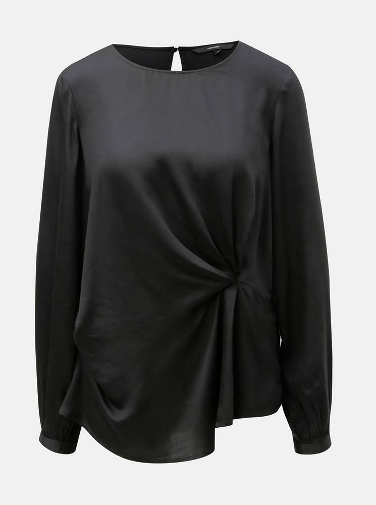 Vero Moda Čierna blúzka s dlhým rukávom VERO MODA Faithy