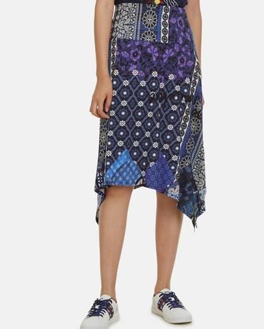 Tmavomodrá sukňa Desigual