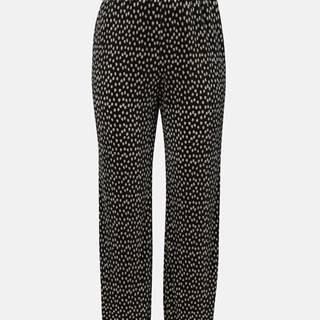 Čierne plisované bodkované nohavice Dorothy Perkins Curve