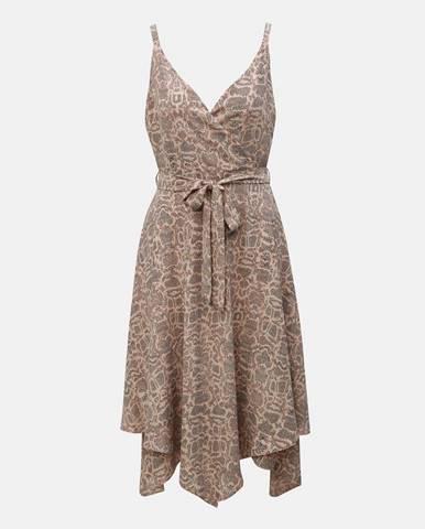 Svetloružové šaty na ramienkach Dorothy Perkins
